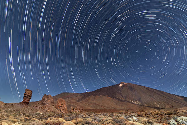 Santa Cruz Island Wall Art - Photograph - Star Trails by This Is A Dream, Live It.
