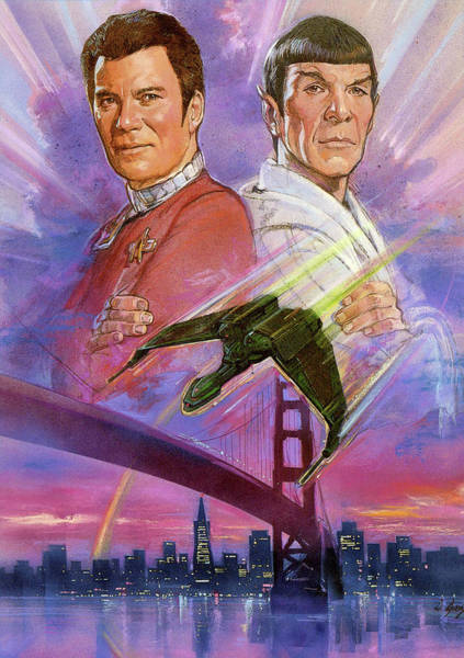 Wall Art - Digital Art - Star Trek Iv The Voyage Home 1986 by Geek N Rock