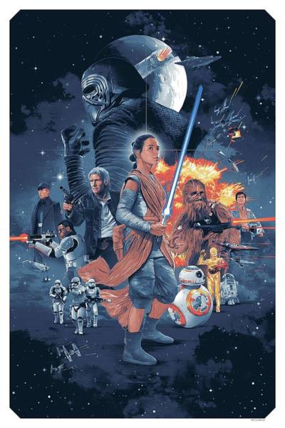 Wall Art - Digital Art - Star Wars 9 by Geek N Rock