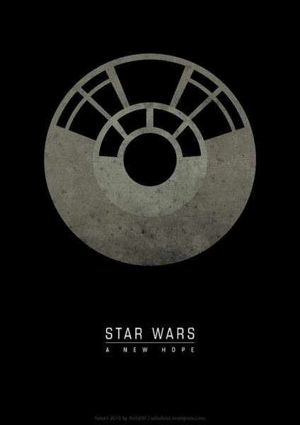 Wall Art - Digital Art - Star Wars A New Hope by Geek N Rock