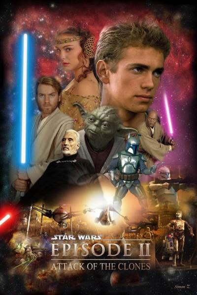 Star Wars Wall Art - Digital Art - Star Wars Episode II by Geek N Rock