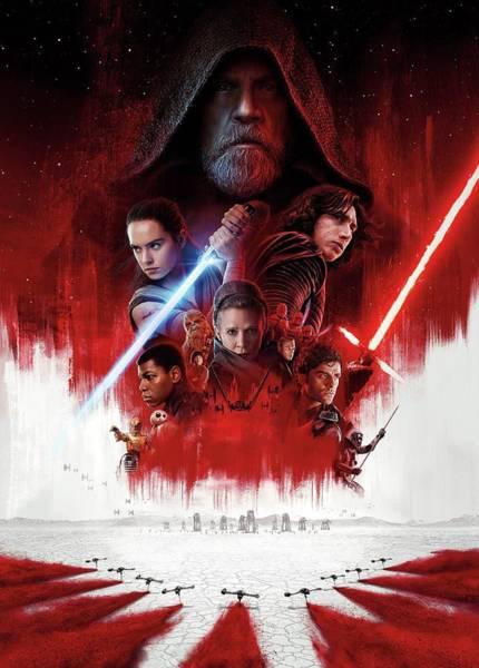Star Wars Wall Art - Digital Art - Star Wars Episode Viii The Last Jedi by Geek N Rock