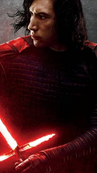 Star Wars Wall Art - Digital Art - Star Wars Episode Viii - The Last Jedi - Kylo Ren by Geek N Rock