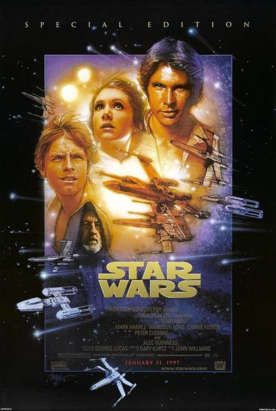 Wall Art - Digital Art - Star Wars. Episodio Iv by Geek N Rock