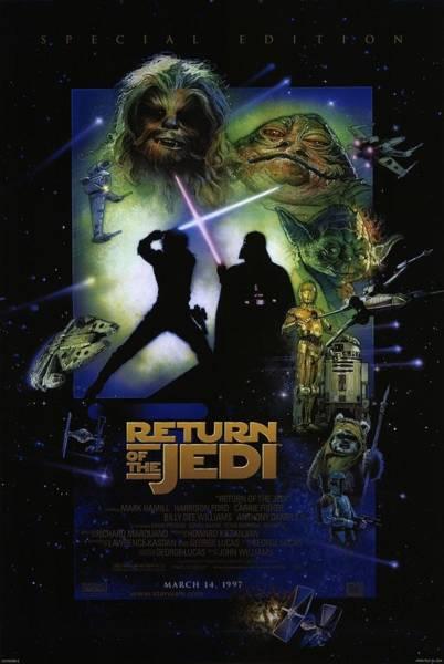 Star Wars Wall Art - Digital Art - Star Wars Episodio Vi - O Retorno De Jedi by Geek N Rock