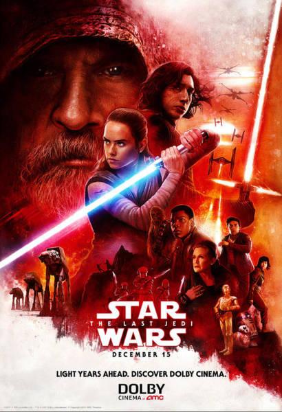 Star Wars Wall Art - Digital Art - Star Wars Episodio Viii - Os Ultimos Jedi 2017 by Geek N Rock