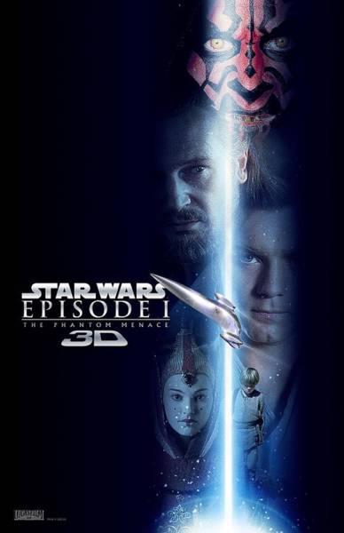 Star Wars Wall Art - Digital Art - Star Wars Phantom Menace by Geek N Rock