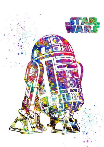 R2-d2 Digital Art - Star Wars, R2-d2 by Erzebet S