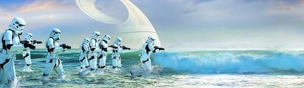 Wall Art - Digital Art - Star Wars Rogue One Stormtroopers Story Art by Geek N Rock