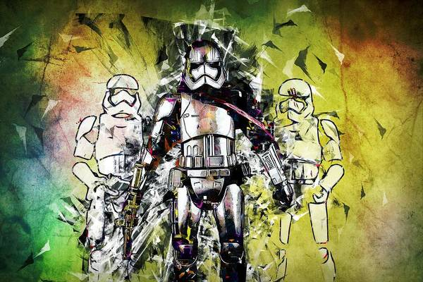 Wall Art - Painting - Star Wars - Stormtrooper by ArtMarketJapan