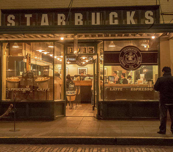 Photograph - Starbucks At Pike Place by E Faithe Lester