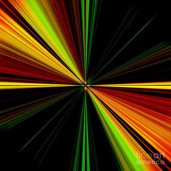 Starburst Light Beams Design - Plb461 Art Print