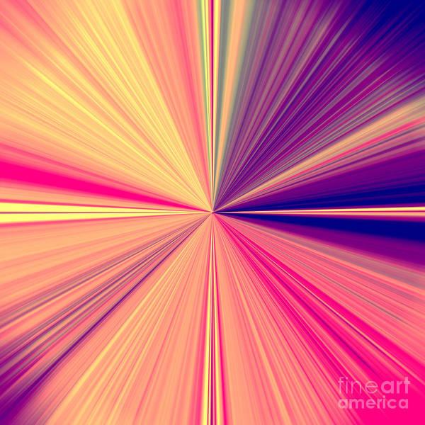 Starburst Light Beams In Abstract Design - Plb457 Art Print