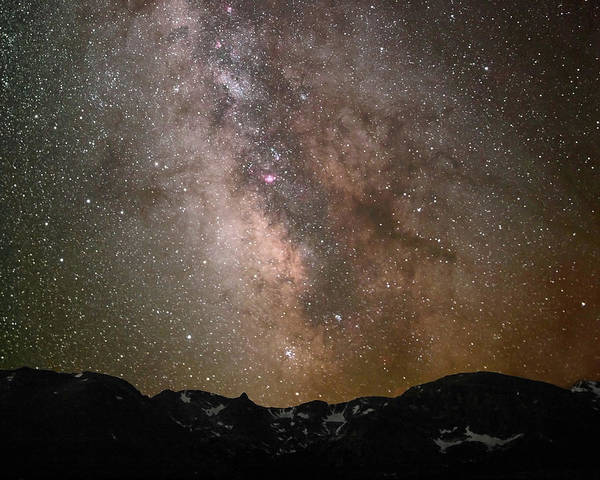 Continental Divide Photograph - Starlight Over The Rockies by Pat Gaines
