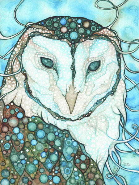 Wall Art - Painting - Starlit Owl by Tamara Phillips