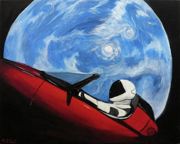Starman Painting - Starman 2 by Andrea Cole