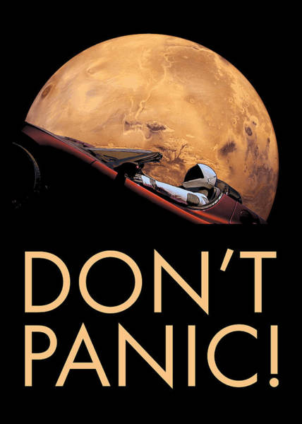 Wall Art - Photograph - Starman Don't Panic In Orbit Around Mars by Filip Hellman