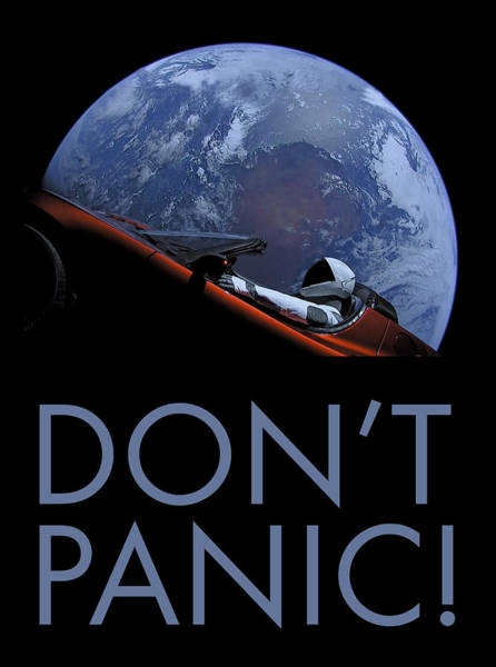 Wall Art - Photograph - Starman Don't Panic In Orbit by Filip Hellman