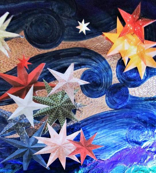 Mixed Media - Starry Night 1 by Rosita Larsson