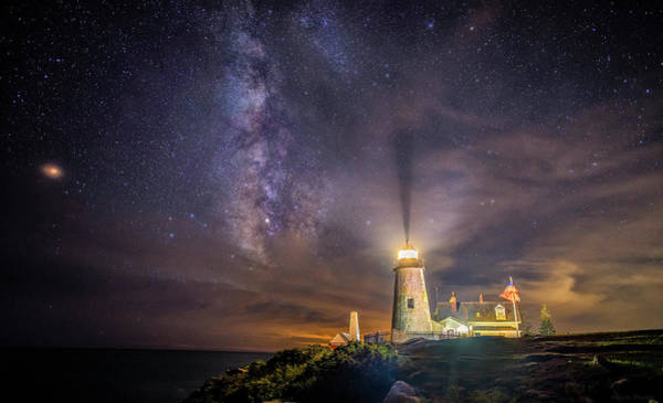 Photograph - Starry Night At Pemaquid by Mark Papke