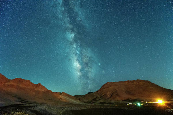 Photograph - Starry Night At Ramon Crater 4 by Dubi Roman