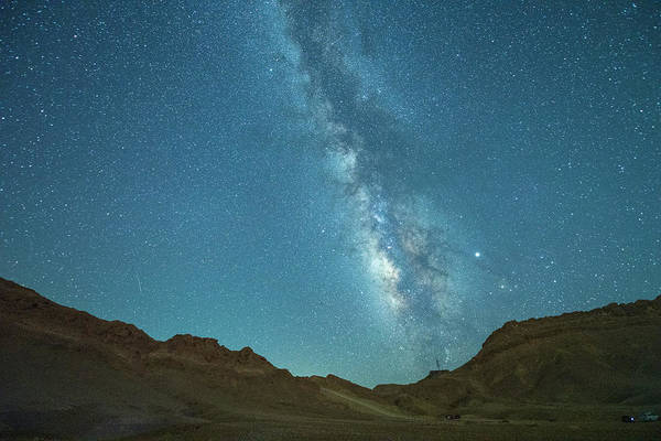 Photograph - Starry Night At Ramon Crater 5 by Dubi Roman