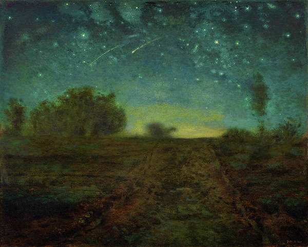 Shooting Star Wall Art - Painting - Starry Night - Digital Remastered Edition by Jean-Francois Millet