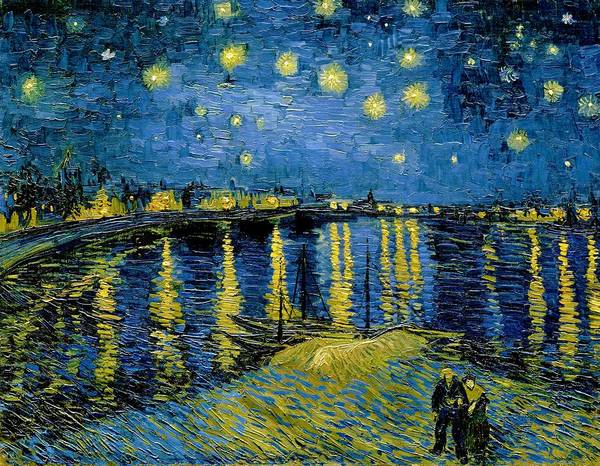 Wall Art - Painting - Starry Night - Digital Remastered Edition by Vincent van Gogh
