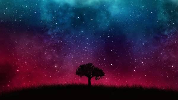 Red Planet Digital Art - Starry Sky by ArtMarketJapan