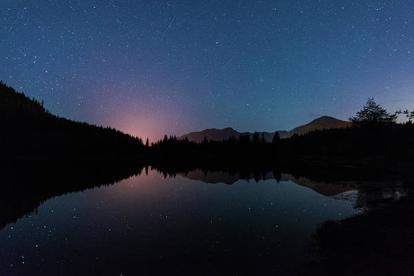 Digital Art - Starry Spring Night At Gold Pond Creek by Michael Lee