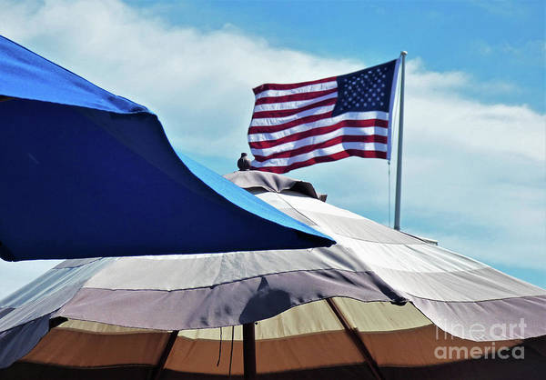 Wall Art - Photograph - Stars And Stripes And Umbrellas by Sharon Williams Eng