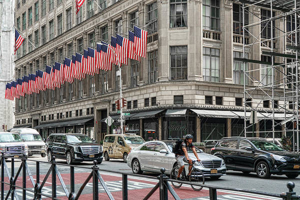 Photograph - Stars And Stripes At Saks by Sharon Popek