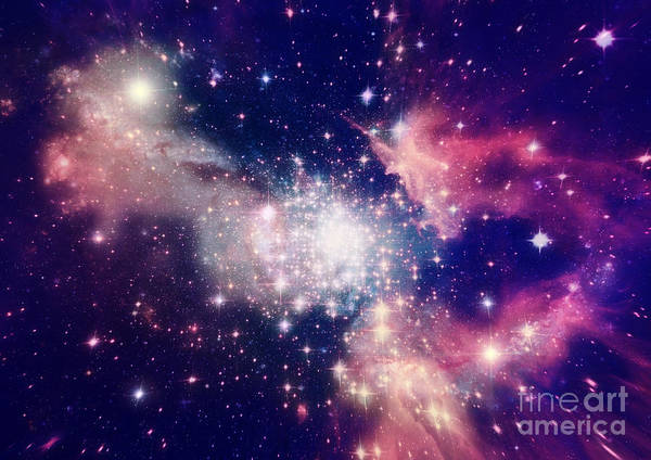 Blur Wall Art - Digital Art - Stars Of A Planet And Galaxy In A Free by Anatolii Vasilev