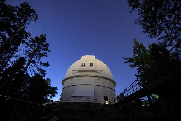 Photograph - Stars Shine Above Hooker Telescope by Jeff Dai