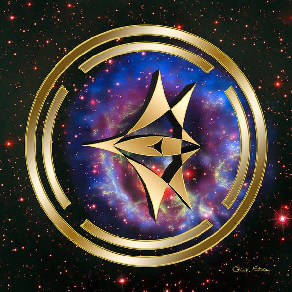 Digital Art - Starship Meridian by Chuck Staley