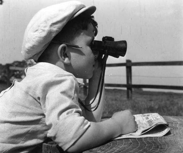 Newspaper Photograph - Starting Young by Keystone