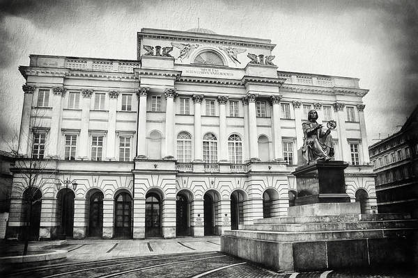 Wall Art - Photograph - Staszic Palace Warsaw Poland Black And White by Carol Japp