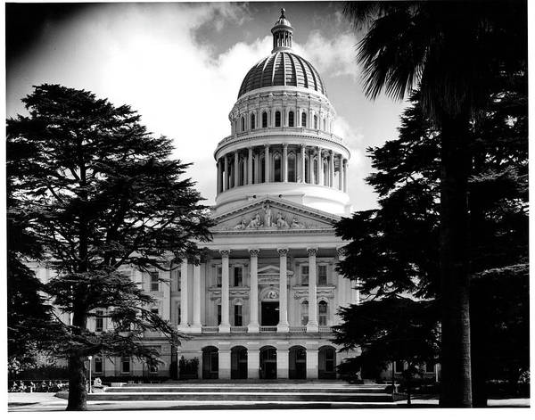 Capitol Building Photograph - State Capitol Building In Sacramento by American Stock Archive