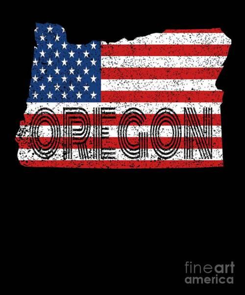 Osu Digital Art - State Flag Of Oregon Vintage Or Map Gift by Art Grabitees