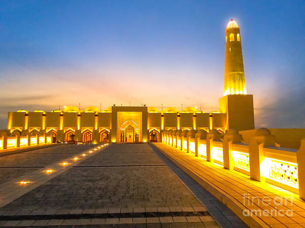 Photograph - State Grand Mosque Night by Benny Marty