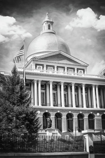 Wall Art - Photograph - State House Boston Massachusetts Black And White by Carol Japp