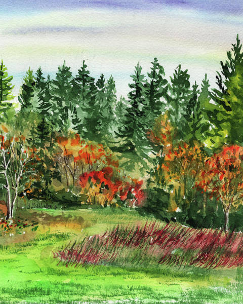 Wall Art - Painting - State Of Washington Fall  by Irina Sztukowski