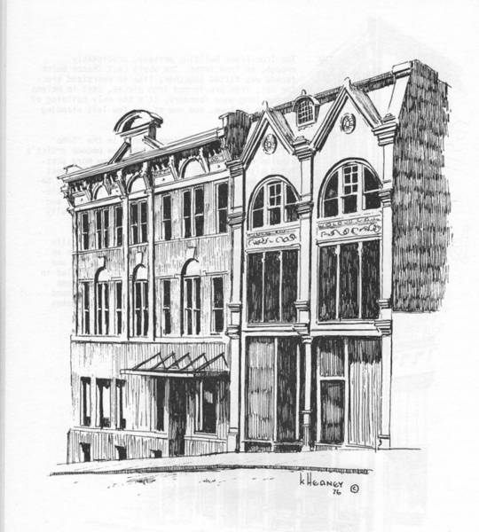 Drawing - State Publishing And Parchen Building Helena Montana by Kevin Heaney