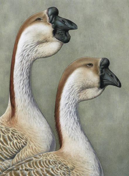 Goose Drawing - Stately Majesty by Katherine Plumer