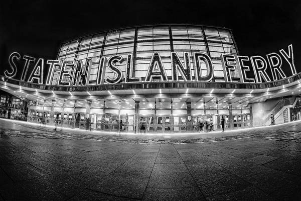 Photograph - Staten Island Ferry Bw by Susan Candelario