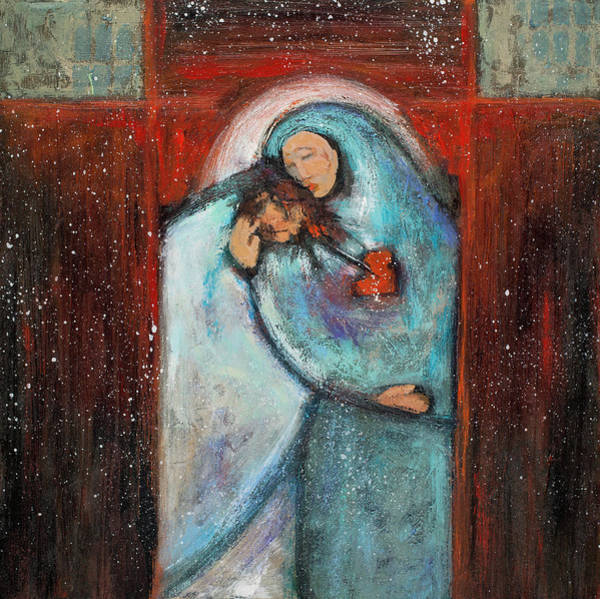 Wall Art - Painting - Station 4 Jesus Meets His Mother by Jen Norton