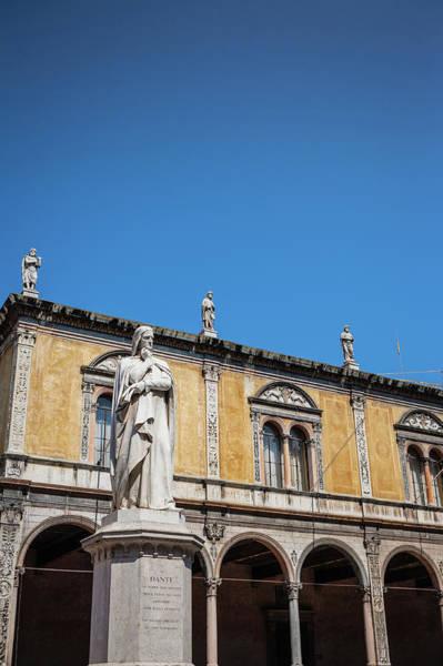 Poet Photograph - Statue Of Dante Alighieri In Piazza Dei by Deimagine
