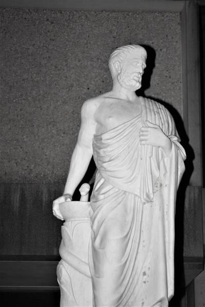 Wall Art - Photograph - Statue Of Hippocrates At Robert Wood Johnson Medical School by Vadim Levin