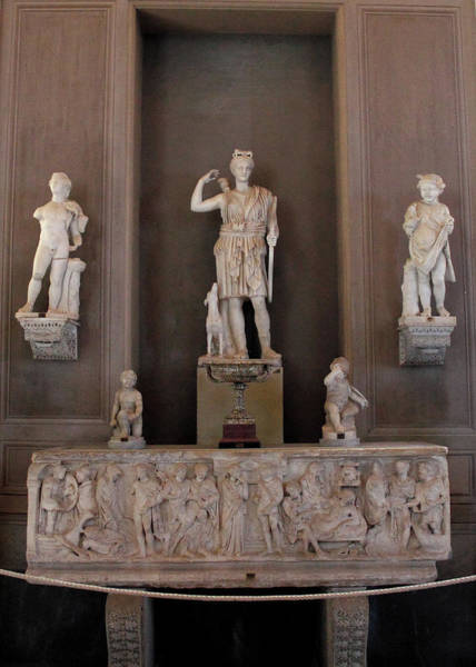 Photograph - Statue Of Huntress Diana Or Artemis Collection In The Vatican Museum 1st Century Ad by Angela Rath