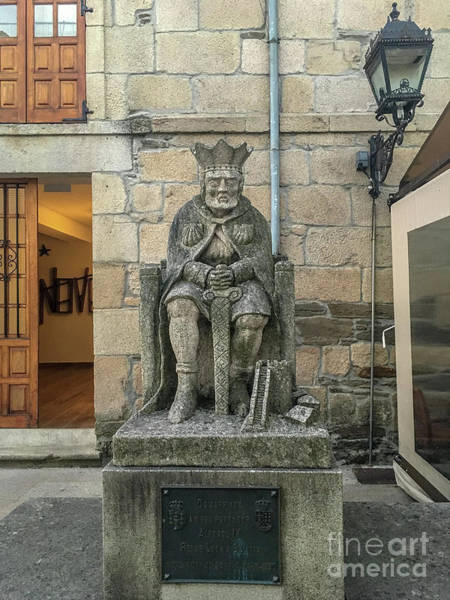 Galicia Photograph - statue of King Alfonso IX b5 by Ben Massiot